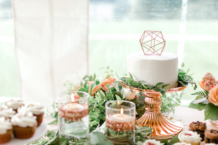 Coral Mint and Rose Gold wedding