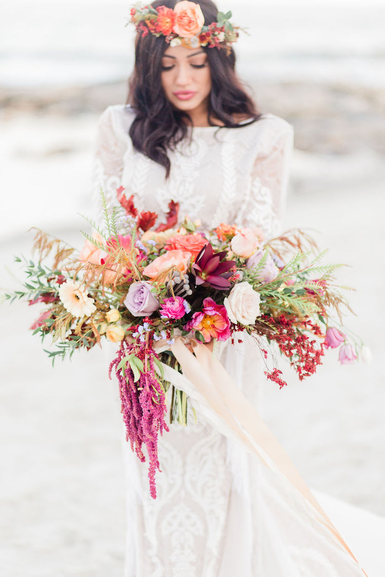 Bohemian Beach Wedding Bouquet