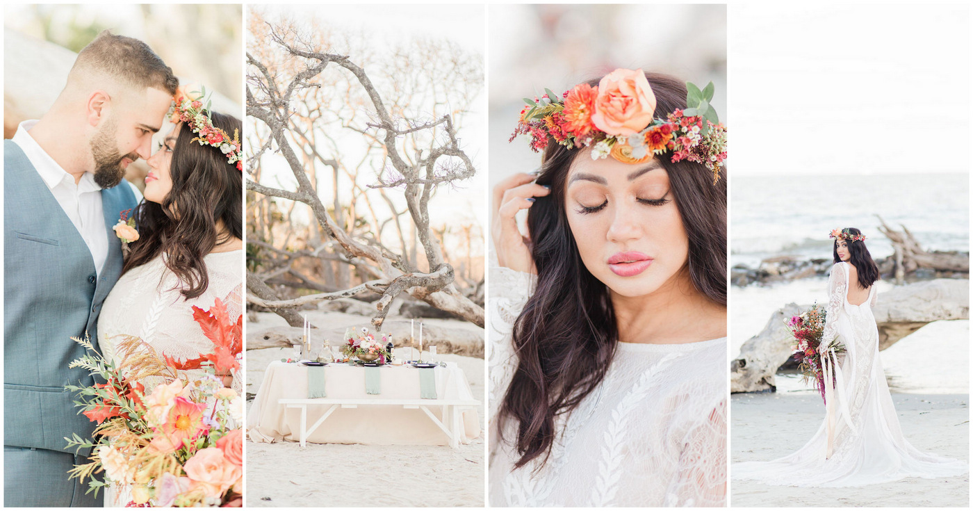 Romantic Bohemian Beach Wedding Ideas
