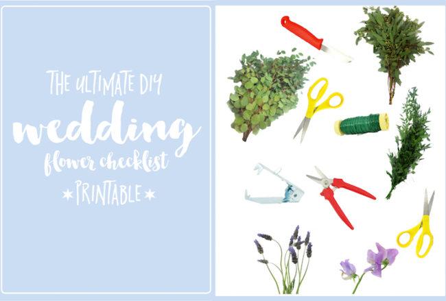 The Ultimate DIY Wedding Flower Checklist (Printable)