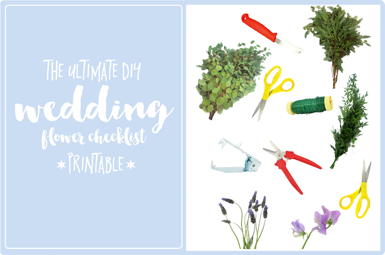 DIY WEDDING FLOWER Checklist Printable
