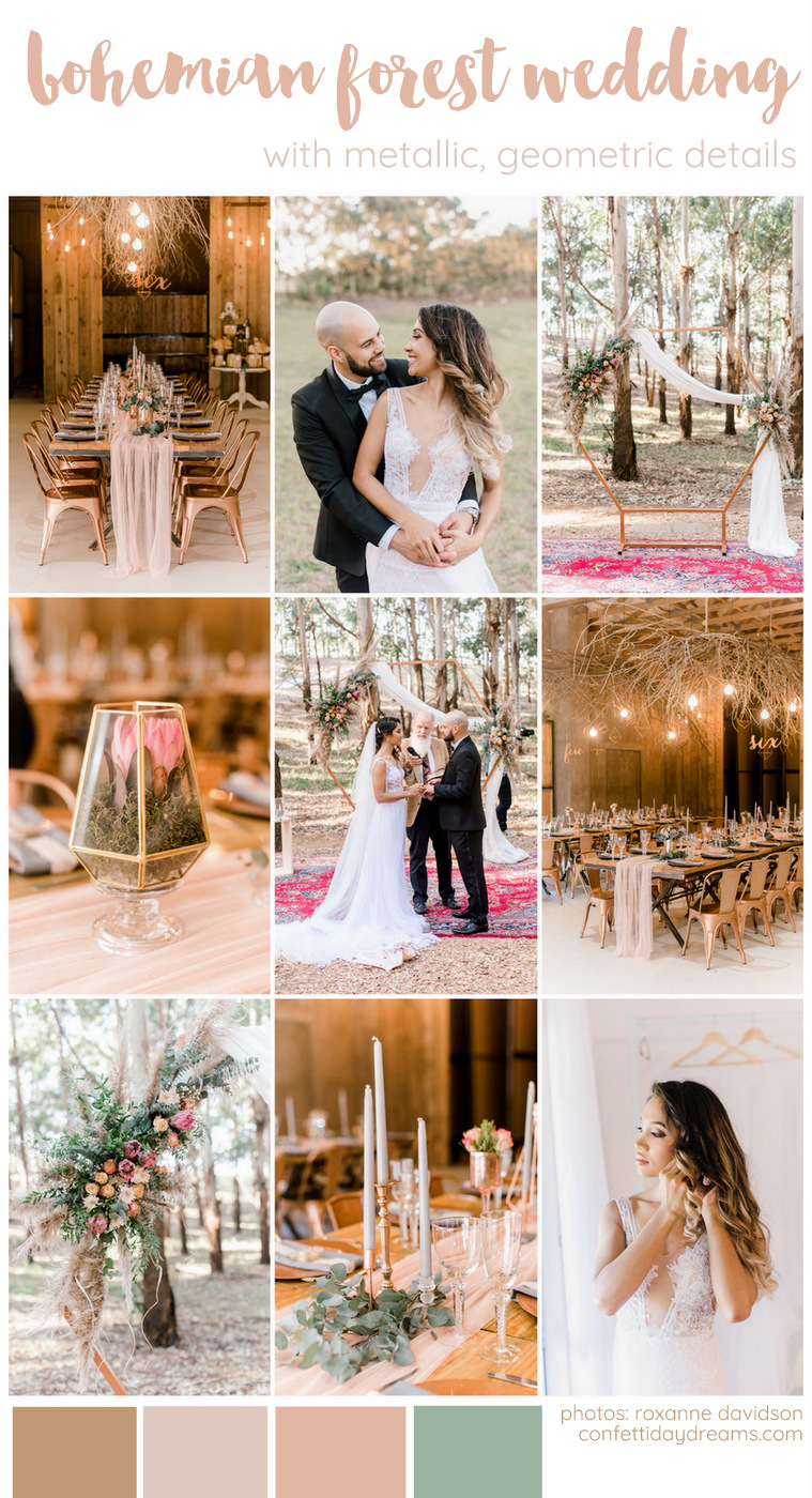 Forest Wedding with Geometric Details