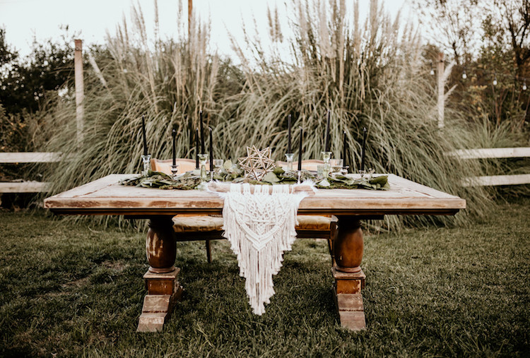 Earthy Geometric Bohemian Wedding Ideas