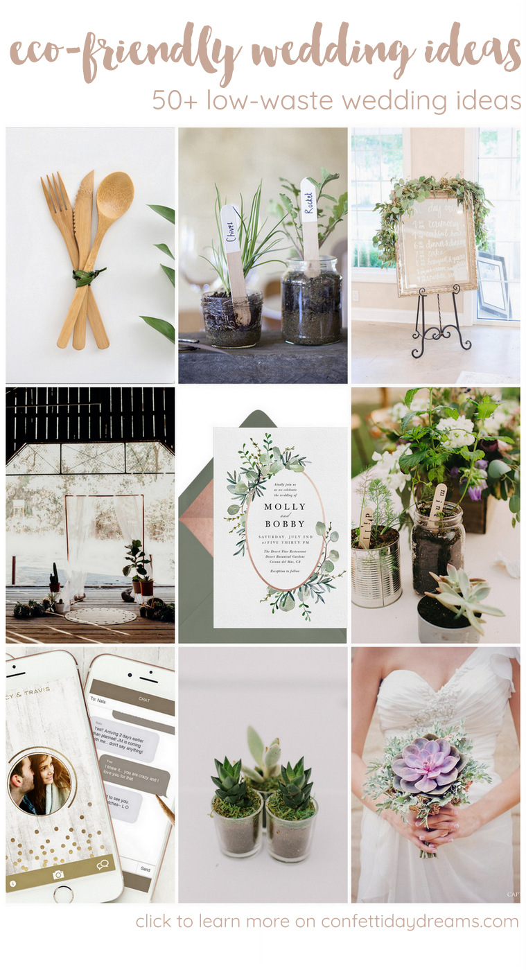 50+ Sustainable Low Waste Wedding Tips