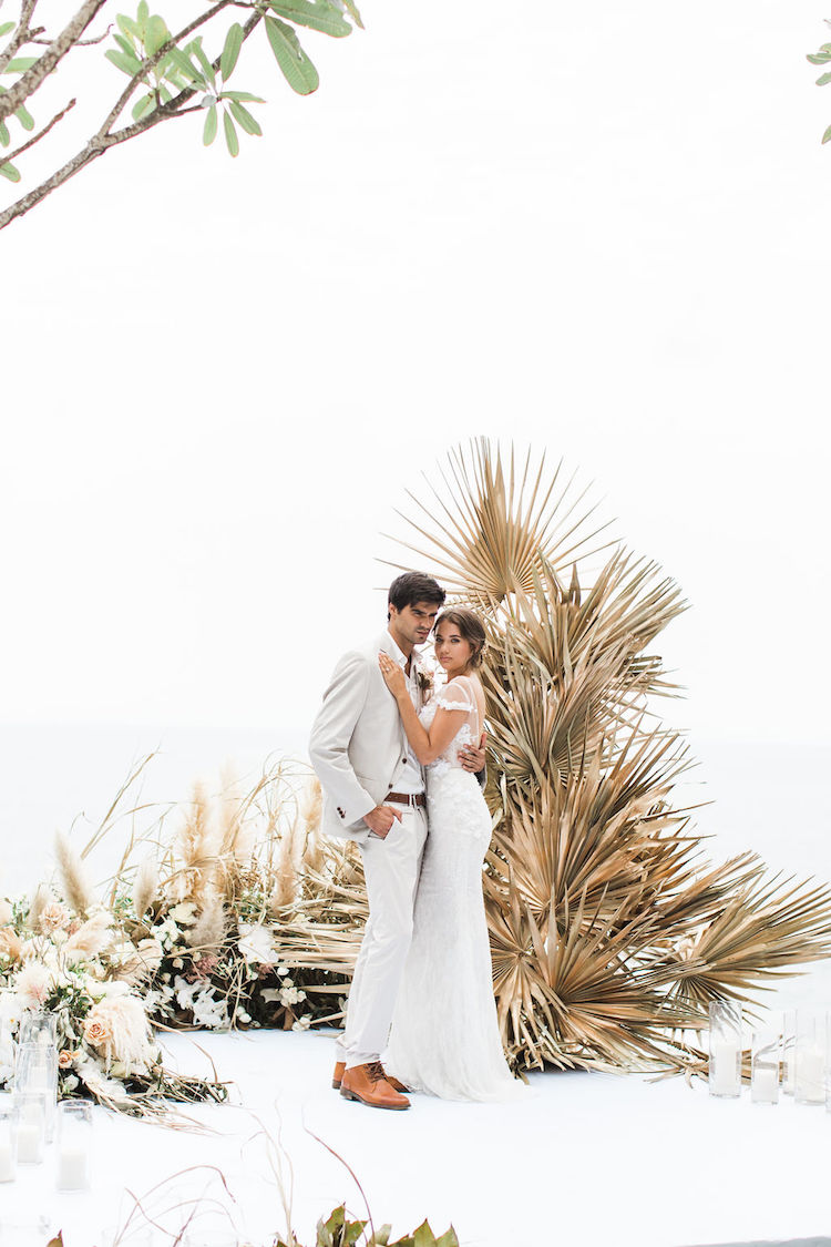 Tropical Elegance Dried Flowers Pampas Grass Wedding