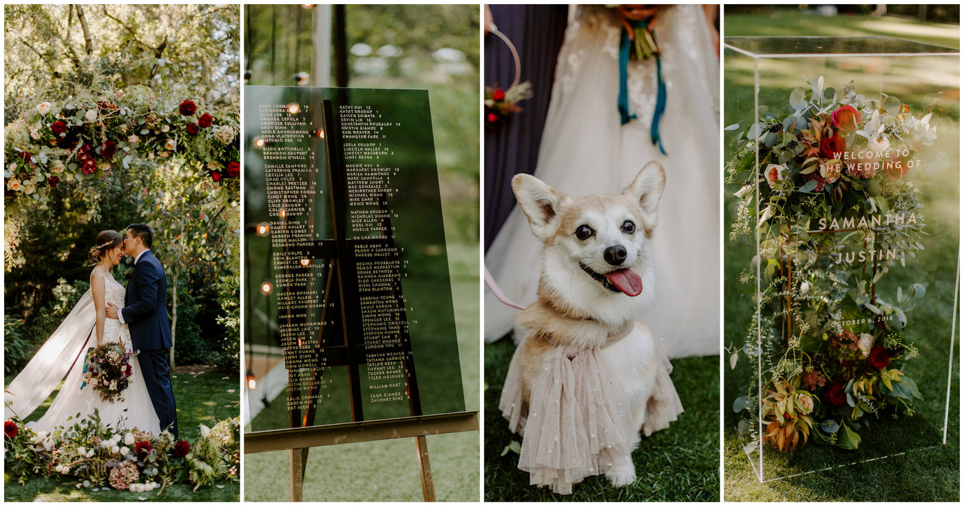 Black Gold Jewel Toned Enchanted Forest Garden Wedding
