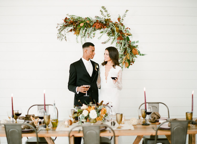 Intimate Winter Dinner Party Wedding