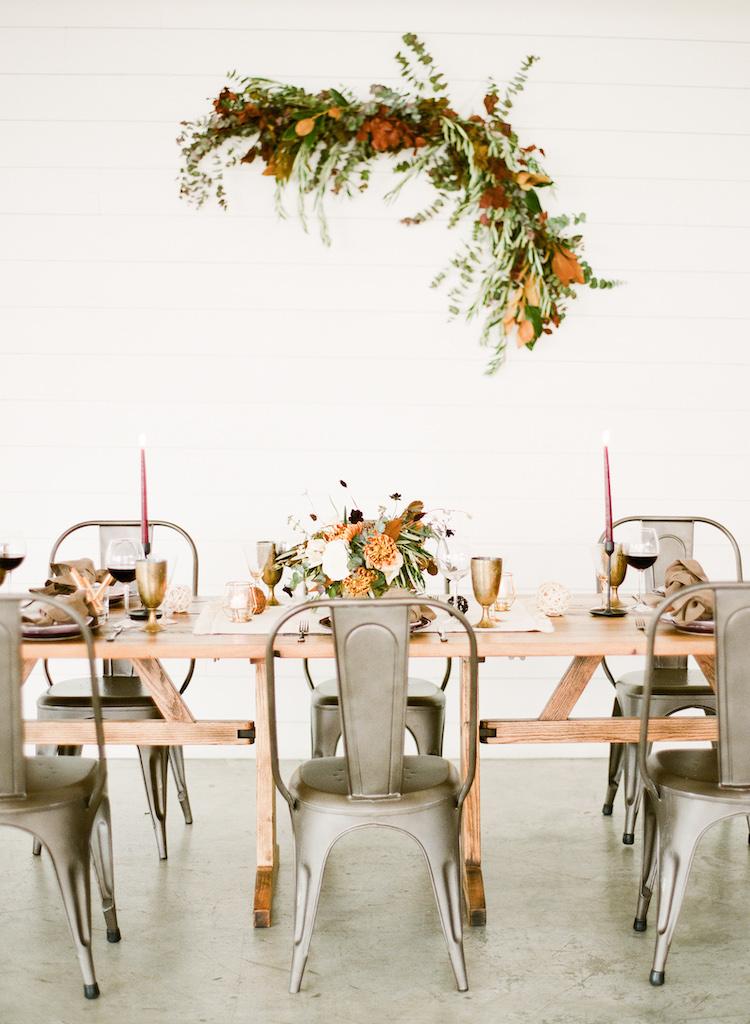 Intimate Winter Dinner Party Wedding