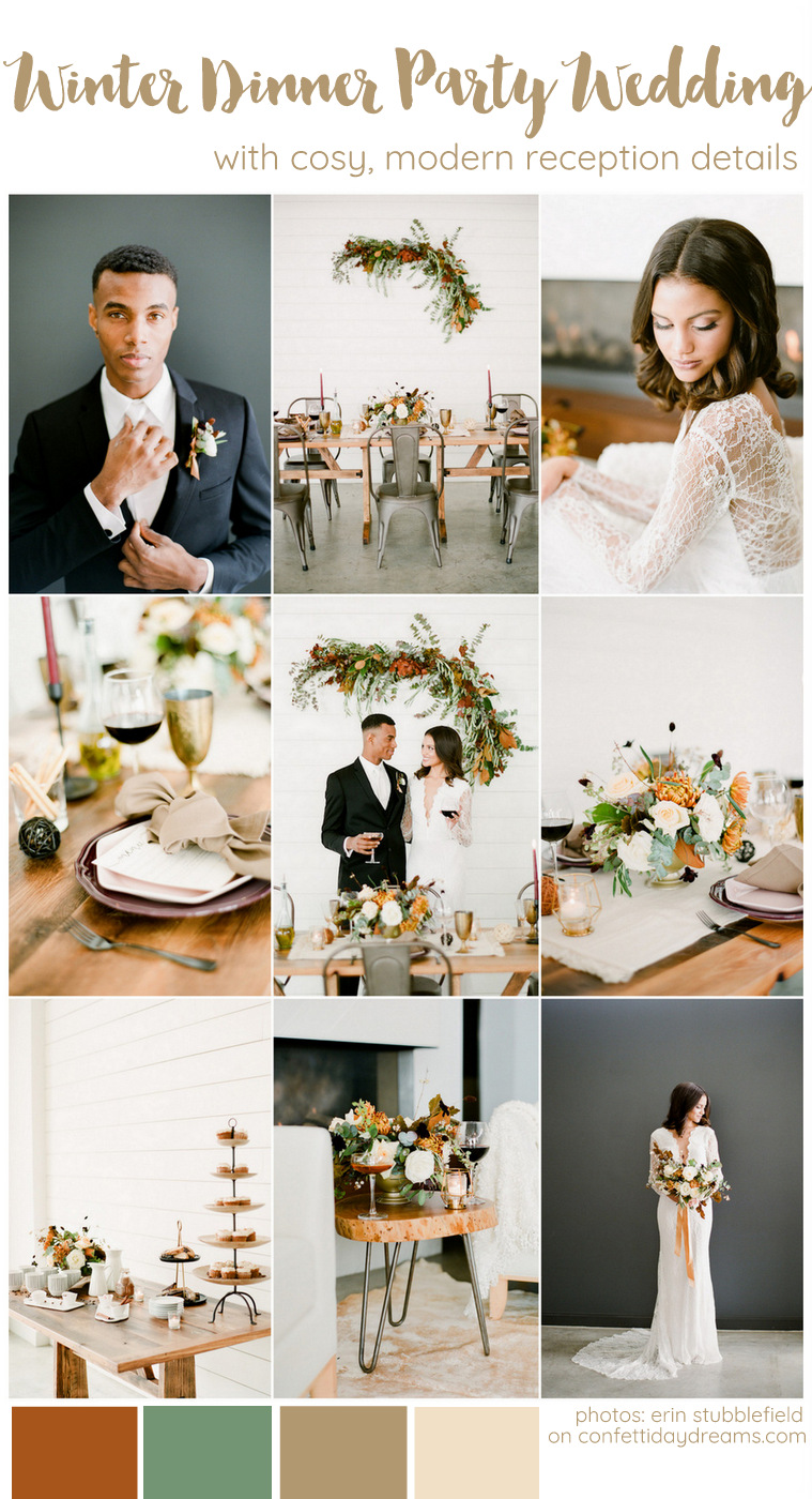 Intimate Winter Dinner Party Wedding Ideas