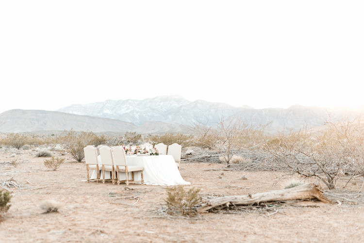 Romantic Intimate Desert Wedding Inspiration In Las Vegas