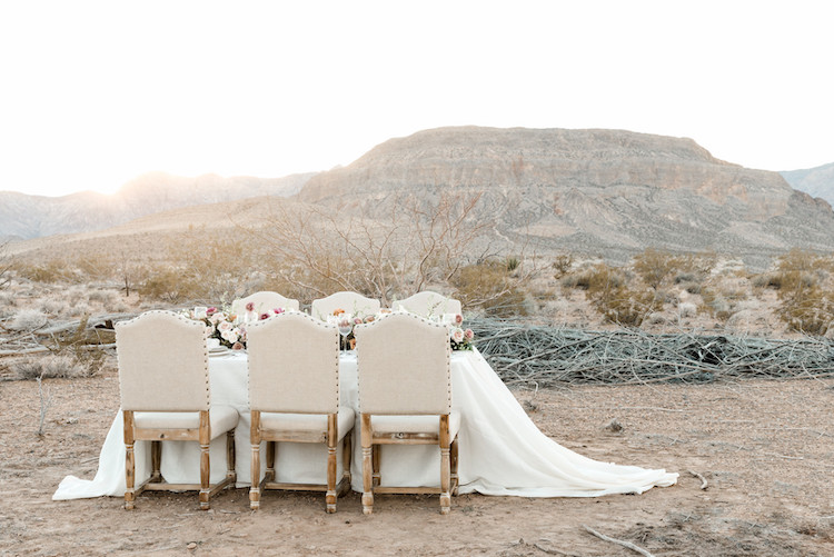 Romantic desert wedding Las Vegas