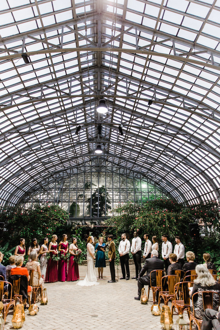 Moody 1920s Conservatory Wedding