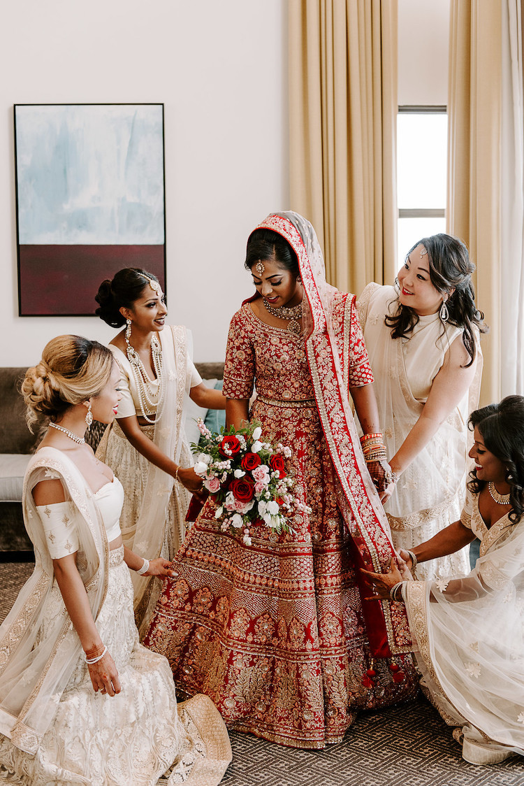 research gold indian bridesmaid dresses