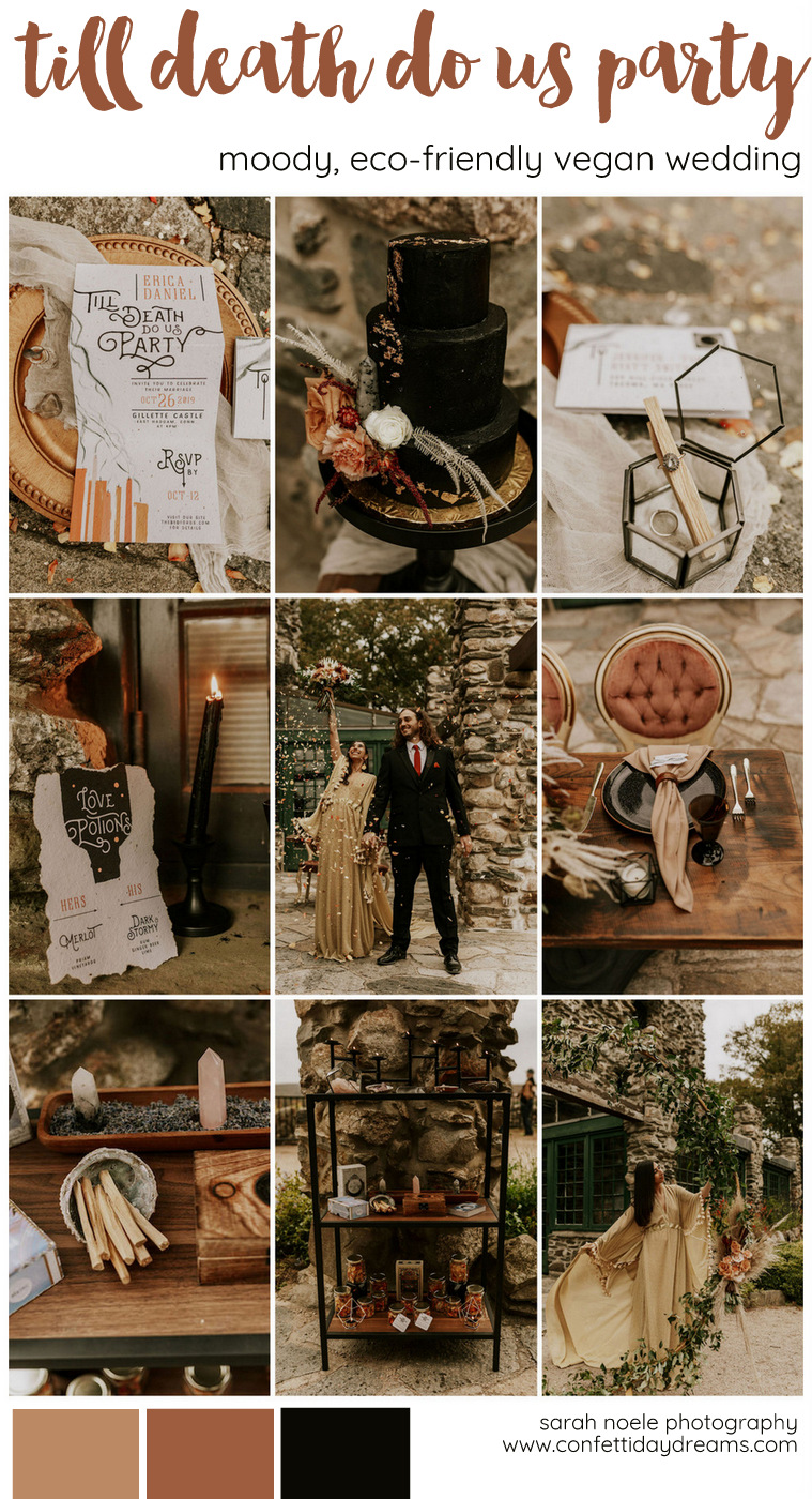 Moody Magic Till Death Do Us Party Vegan Wedding