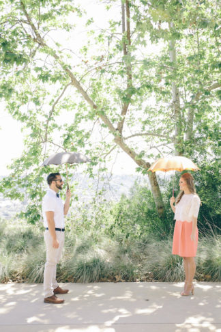 60s Inspired Pastel Engagement Photo Shoot - Pic: Taylor Abeel Photography