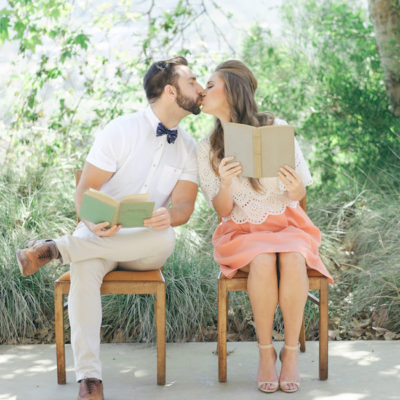 60s Inspired Pastel Engagement Photo Shoot {Taylor Abeel Photography}