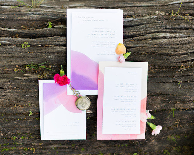 Alice in Wonderland Garden Wedding