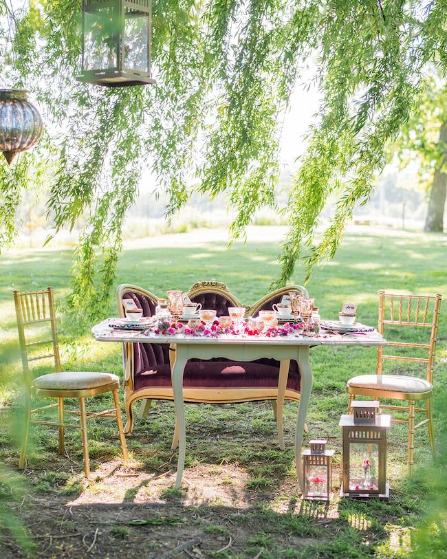 Alice In Wonderland Garden Wedding 2