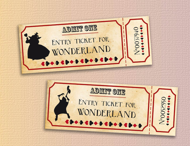 20 diy alice in wonderland tea party wedding ideas below once your guests have entered your secret wedding wonderland using their entrance tickets above use this welcome to wonderland signage kit to pronofoot35fo Gallery