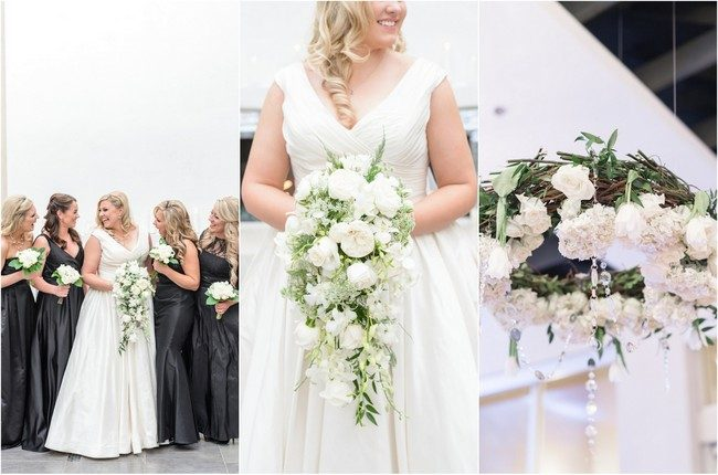 Glam, Urban All White Wedding {Monique Hessler Photography}