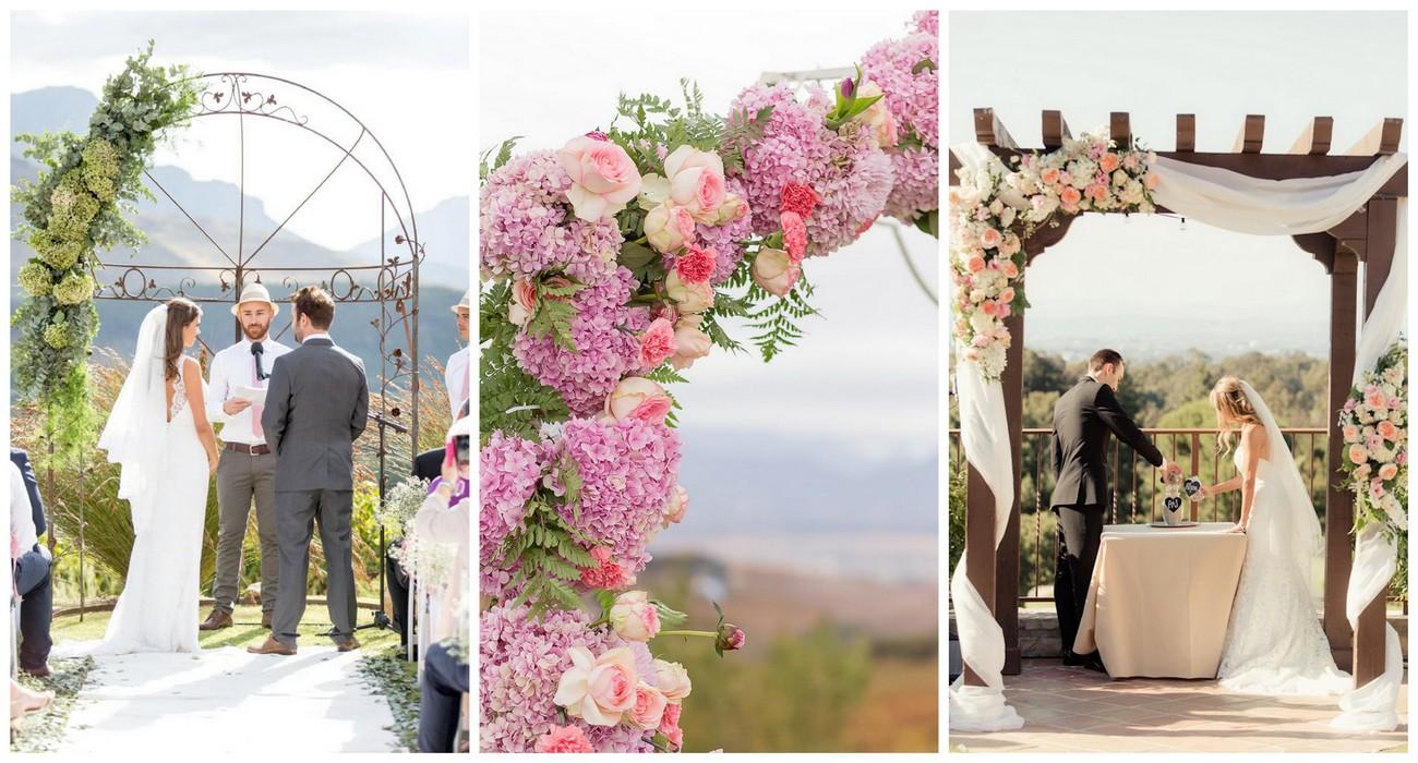 Wedding Ceremony Ideas Flower Covered Wedding Arch: 21 Amazing Wedding Arch + Canopy Ideas