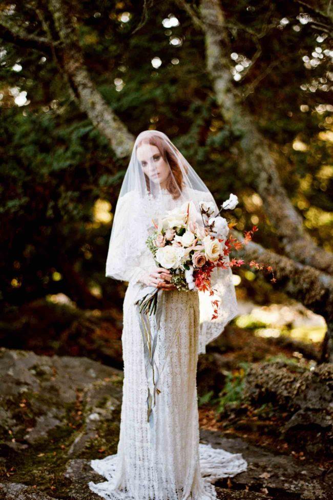 Delicately Divine Autumn Bride Inspiration by Bride La Boheme