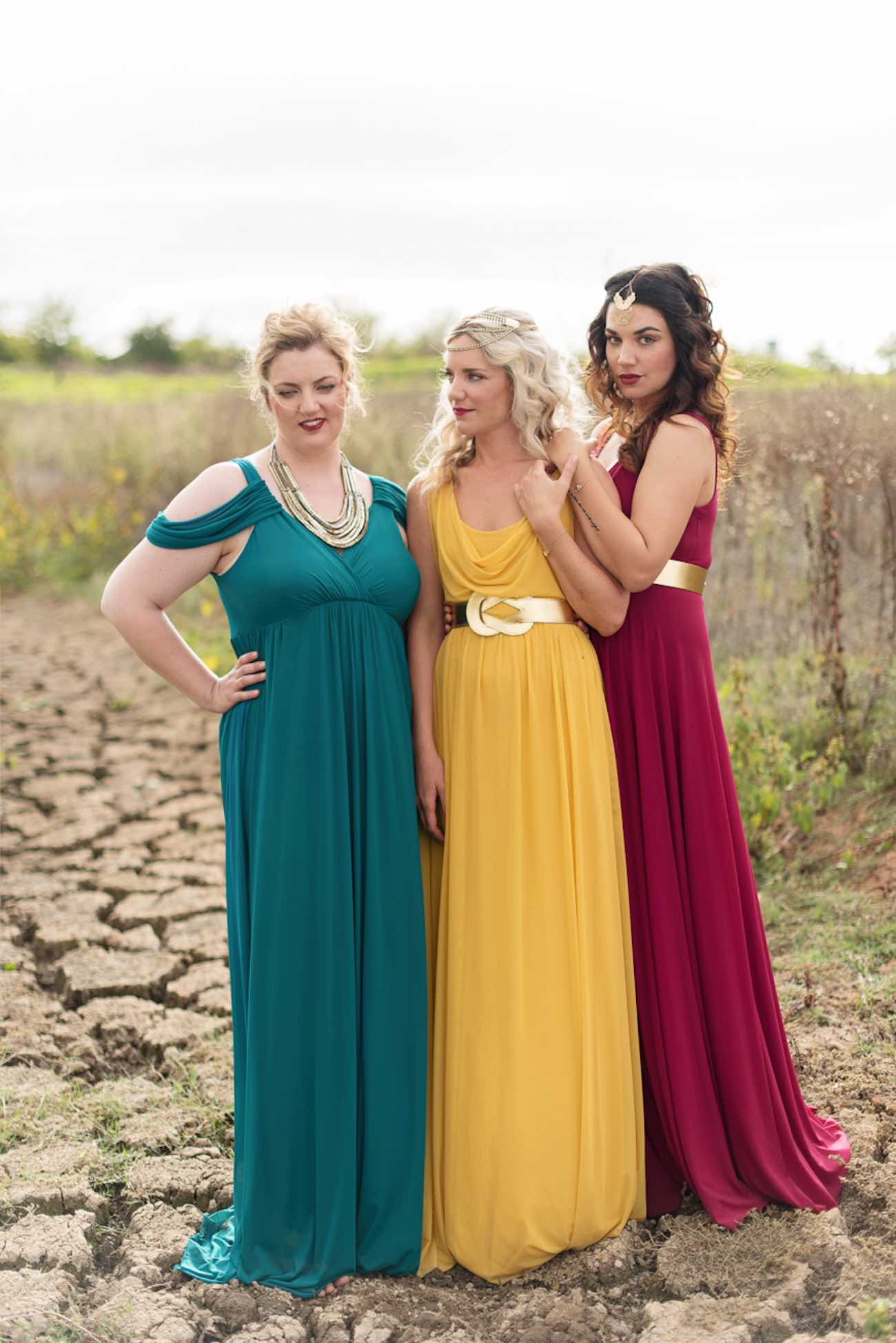 Mix + match autumn bridesmaid dress and accessory ideas