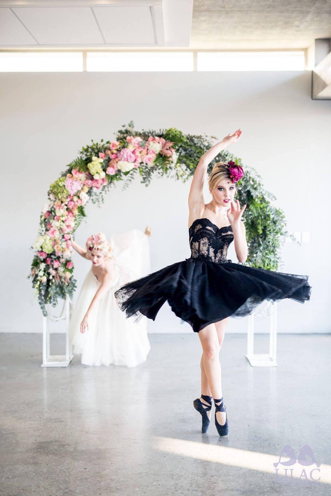 Ballerina Bride in Black