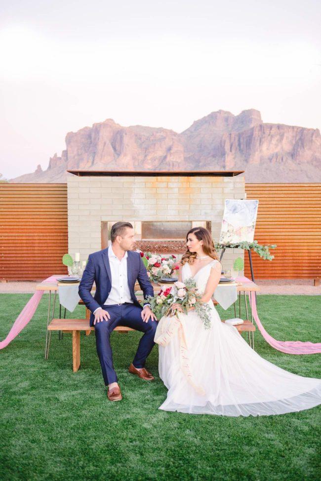 Berry Blush Desert Wedding - Marisa Belle photography