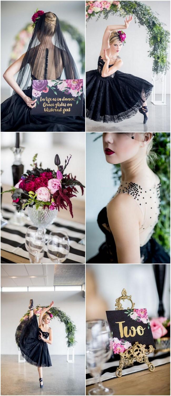 Black Swan Ballerina Bride Wedding