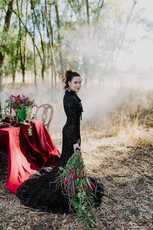 Dramatic black wedding Dress - Jana Marnewick Photography
