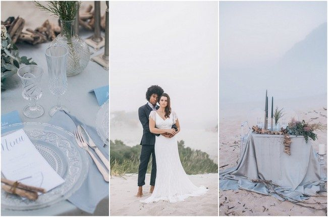 Misty, Moody, Cerulean Blue and Pewter Beach Wedding {Neverending Magic Photography}