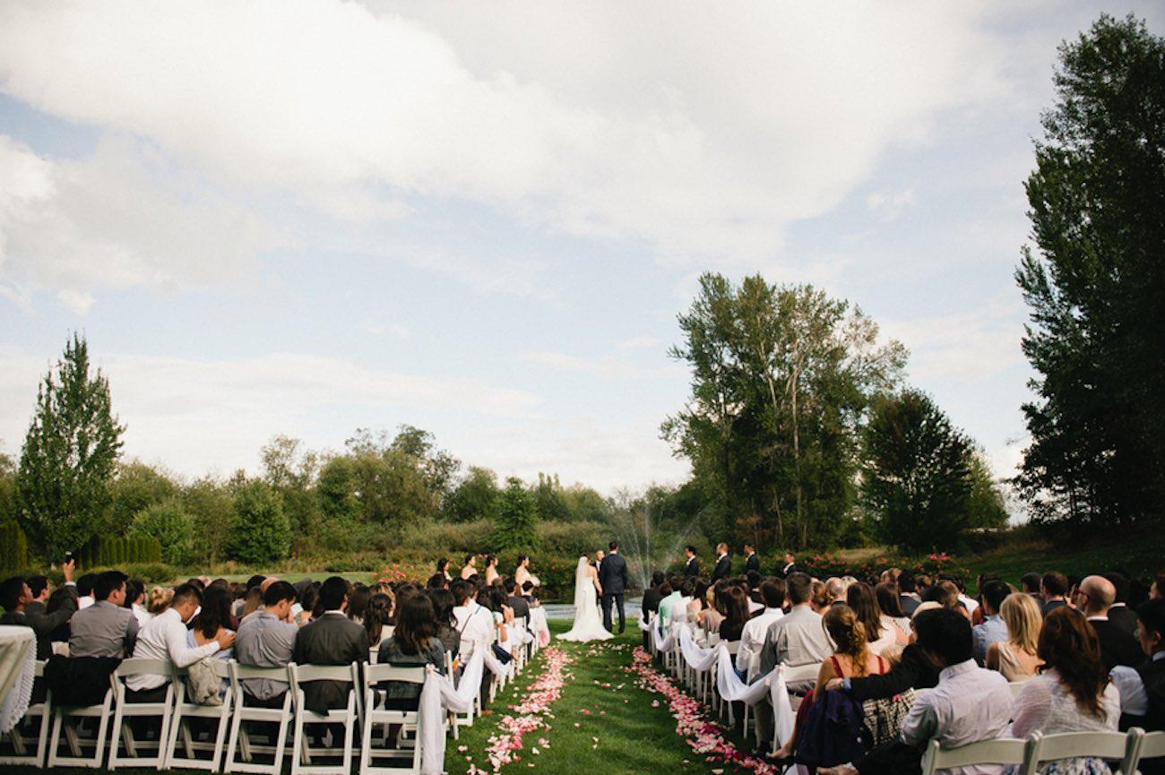 Blush Gold White Outdoor Seattle Wedding 2