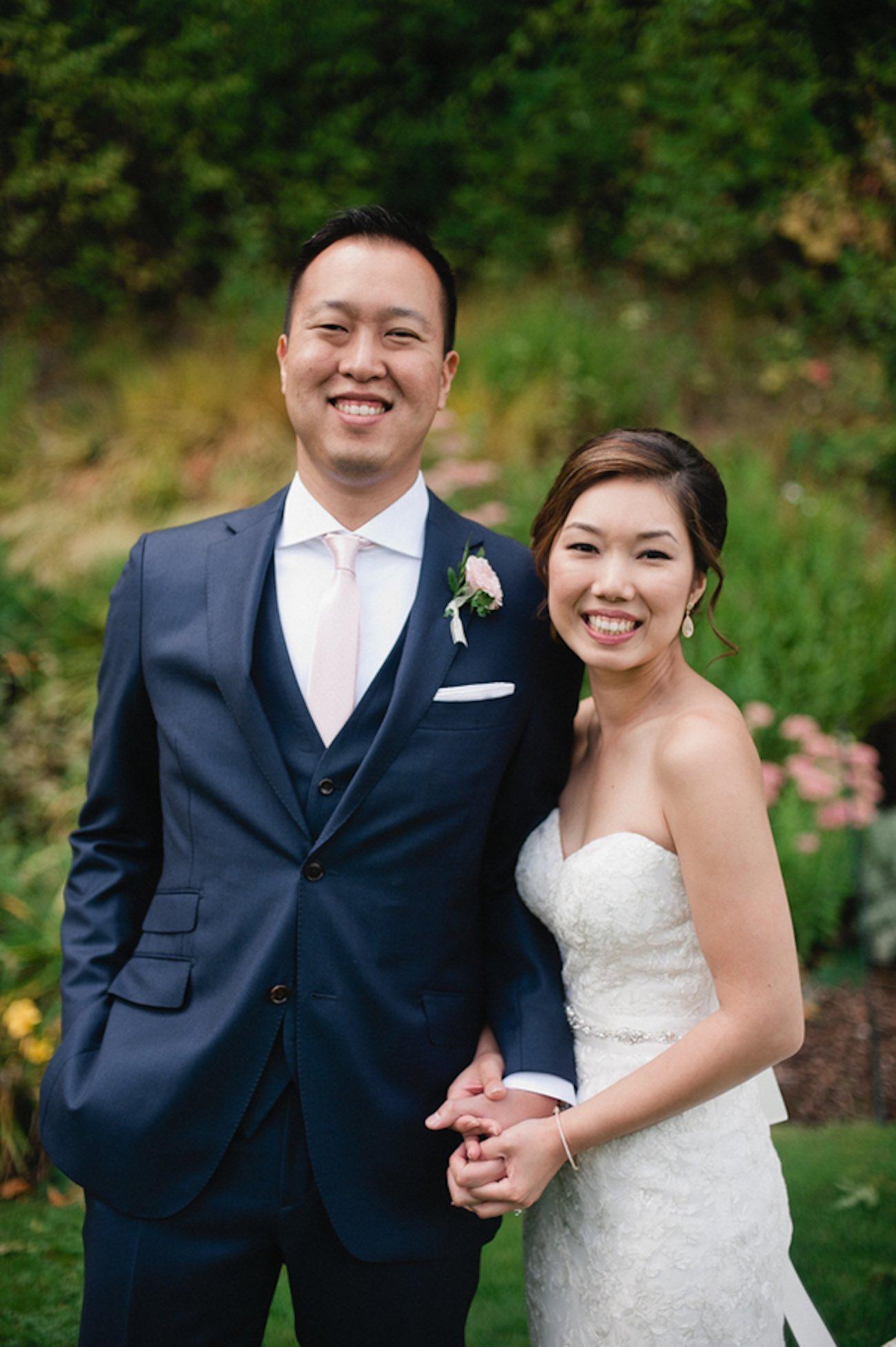 Blush Gold White Outdoor Seattle Wedding 27