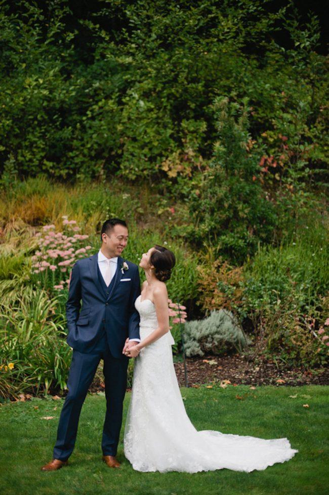 Blush Gold White Outdoor Seattle Wedding 28
