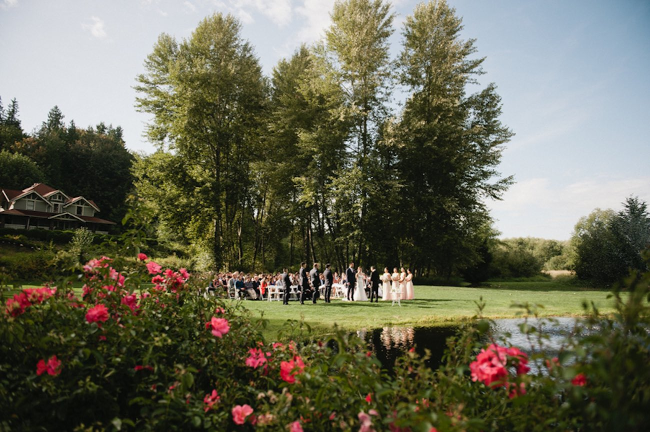 Blush Gold White Outdoor Seattle Wedding 3
