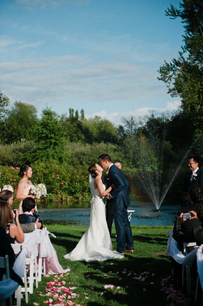 Blush Gold White Outdoor Seattle Wedding 4