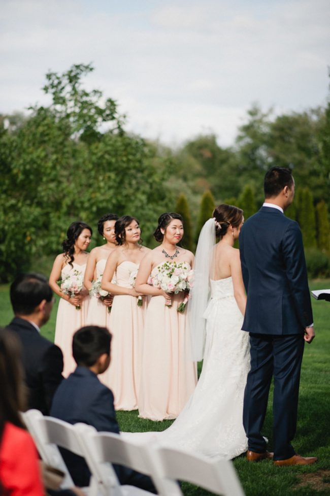 Blush Gold White Outdoor Seattle Wedding 47