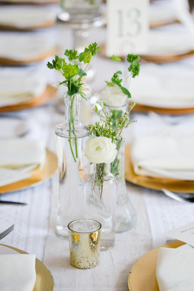 Blush Gold White Outdoor Seattle Wedding 55 : gold and white table setting - pezcame.com