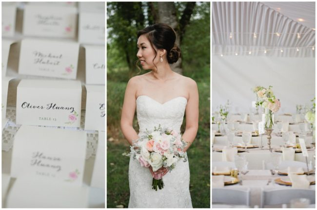 Blush, Gold + Watercolor Outdoor Seattle Wedding {Meredith McKee Photography}