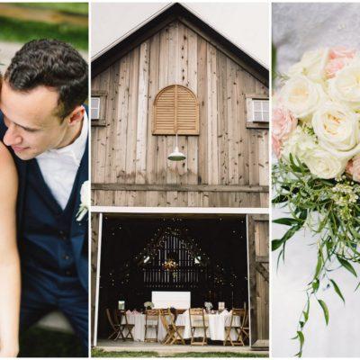 Laughter-filled Blush Indiana Barn Wedding {Jennifer Van Elk Photography}