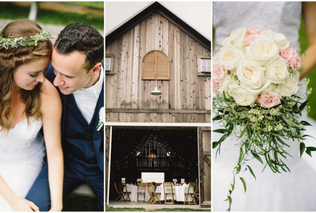 Laughter-filled Blush Indiana Barn Wedding {Jennifer Van Elk Photography}
