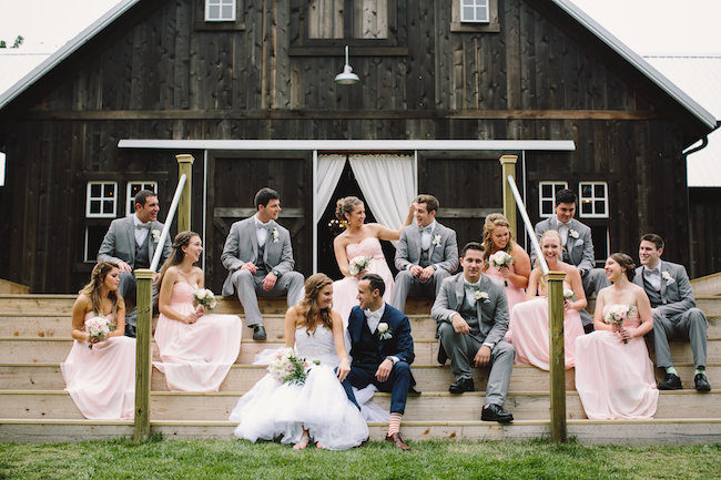 Blush Indiana Barn Wedding 30