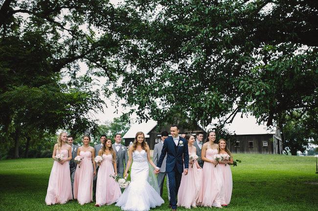 Blush Indiana Barn Wedding 31