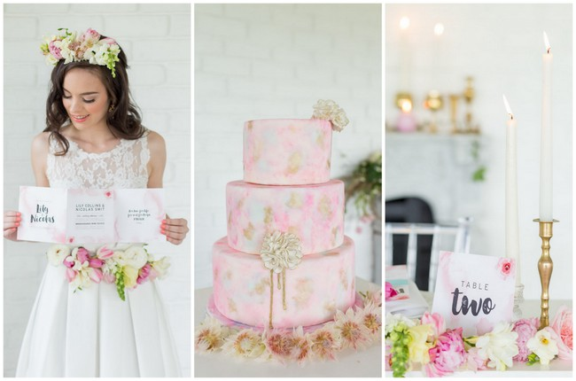 Beautiful Blush Watercolor Wedding Ideas {Adele Kloppers Photography}