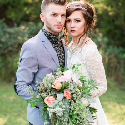 Bohemian Campground Wedding at Sunset {Lyndsey Paige Photography}