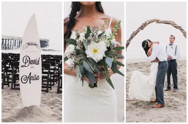 Bohemian 'Surf Fiesta' Beach Wedding {Alexandra Wallace Photography}