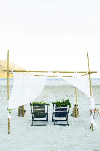 Boho beach wedding reception and decor