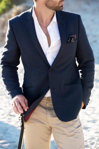 Boho beach wedding groom