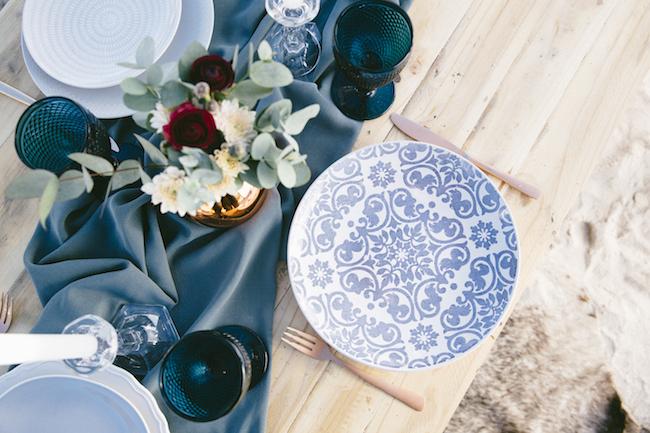 Boho beach wedding table